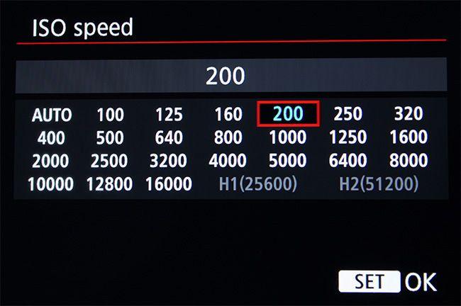 escala ISO gama alta