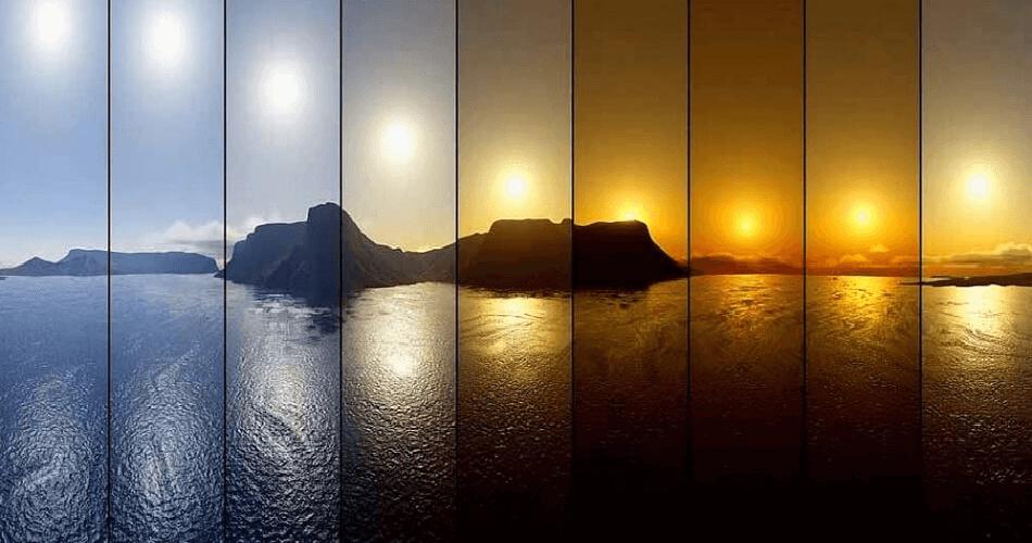 tonalidades y temperaturas de la luz