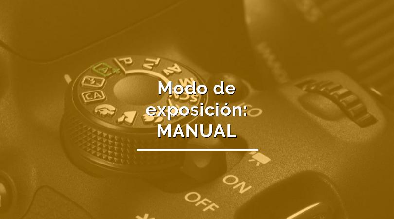 modo de exposición manual